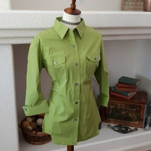 TravelSmith Green Button Up Shirt
